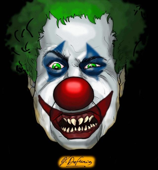 Noicattaro. Vignetta clown rapinatori intero