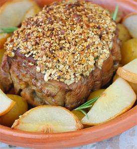 Veal or turkey roast