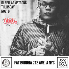 11/6 - Thurs - We're at Fat Buddha in the LES