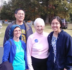 Foxx with Voters on Election Day