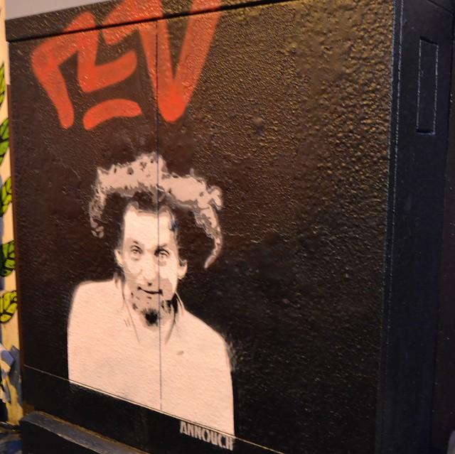Georges Perec dans ma rue, Paris Ménilmontant. Street art Annouch