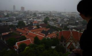 Image of Golden Mount near Bangkok. panorama fog thailand nikon view bangkok gimp tailandia goldenmount watsaket ufraw d90