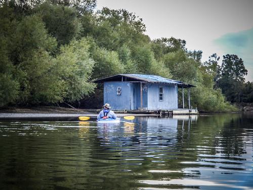 Savannah River from Stokes Bluff with LCU Nov 7, 2014, 4-18 PM Nov 8, 2014, 9-55 AM