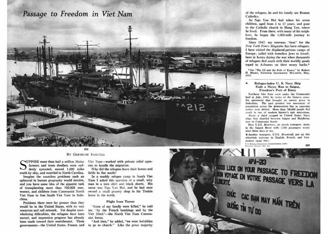 National Geographic June 1955 (2) - Passage to Freedom in Viet Nam - Hành trình đến Tự do tại Việt Nam