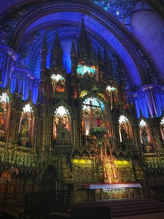 Image of Notre-Dame Basilica. iphonology iphoneology iphone religion catholic religious beautiful beauty woodwork architecture gothicrevival canada quebec oldmontreal church basilica notredame