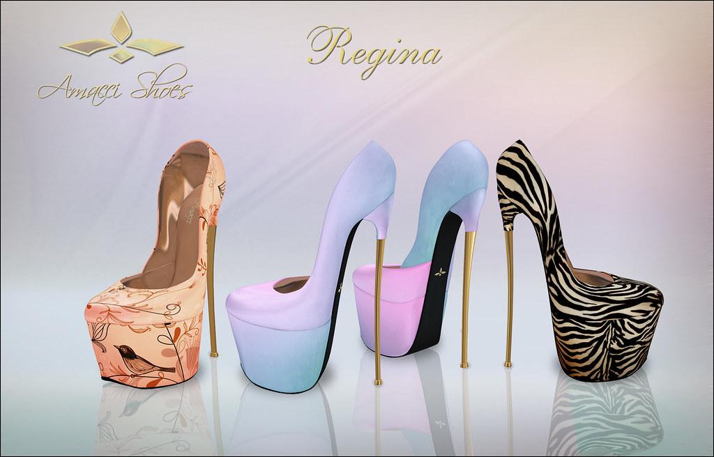Amacci Regina Shoes Exclusives - SecondLifeHub.com