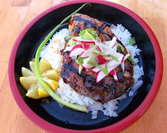 OLD FASHIONED HOISIN GLAZED GRILLED TUNA STEAK