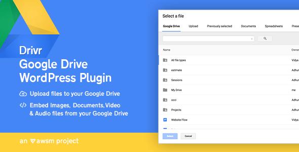 Drivr v1.0 - Google Drive Plugin for WordPress