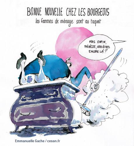 Une planche de Tintin planquée derrière un meuble, par Emmanuelle Gache
