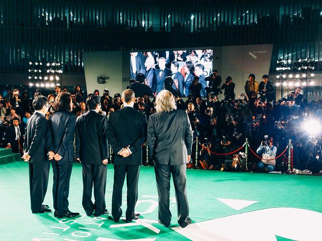 Photo:26th Tokyo International Film Festival: Paul Greengrass & Tom Hanks from Captain Phillips, Mitani Koki & Yakusho Koji from The Kiyosu Conference, Prime Minister Abe Shinzo By Dick Thomas Johnson