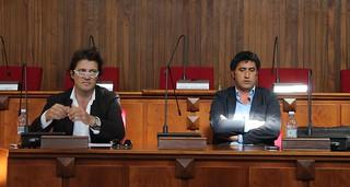 Da sinistra, l'architetto Musa e l'assessore all'Urbanistica Giovanni Abbatepaolo