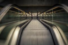 Triangeln Escalators Motion Blur