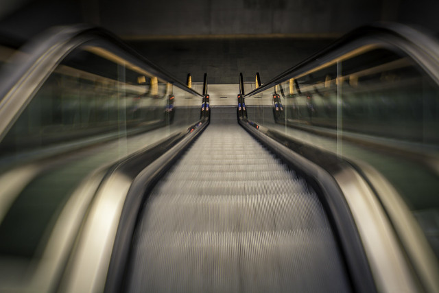 Triangeln Escalators Motion Blur