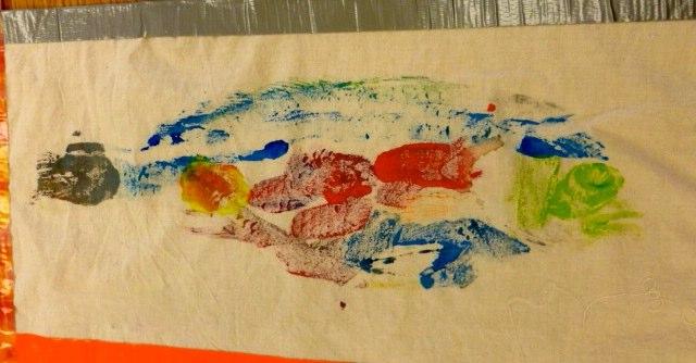 A fish print made by a 5th grader