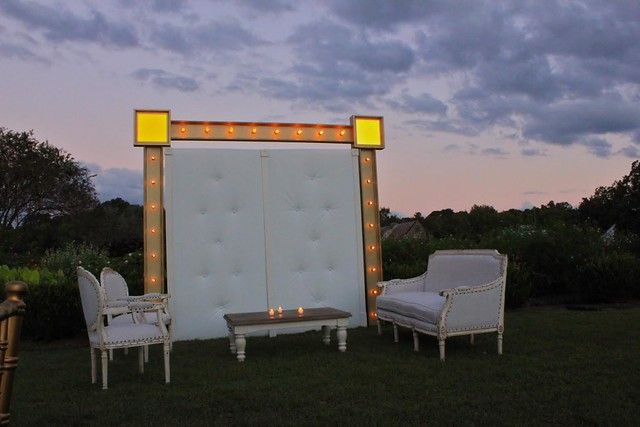 Tufted Wall with Lit Marquee Surround