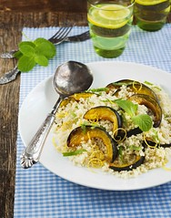 Roasted pumpkin and couscous salad