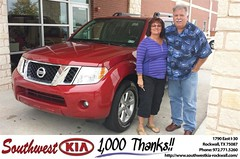 #HappyAnniversary to Robert Keefer on your 2012 #Nissan #Pathfinder from Mauricio Pena at Southwest KIA Rockwall!