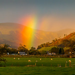 Rainbow over Bryncrug and Dysynni Valley