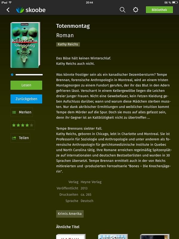 Totenmontag, Tempe Brennan 7, Kathy Reichs