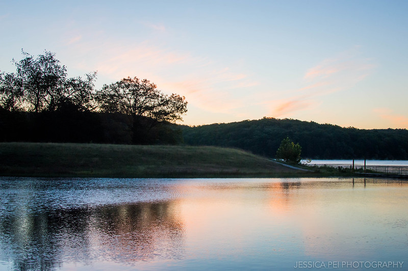 sunrise lake nature beautiful colors