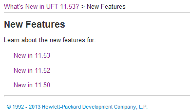 Versions of UFT-11.5
