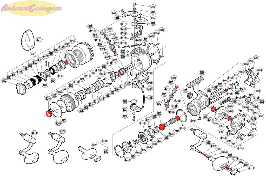 Schéma Shimano Stella 6000FA