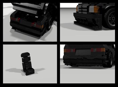 Lego 1990 Mercedes 190E Evo II - Details