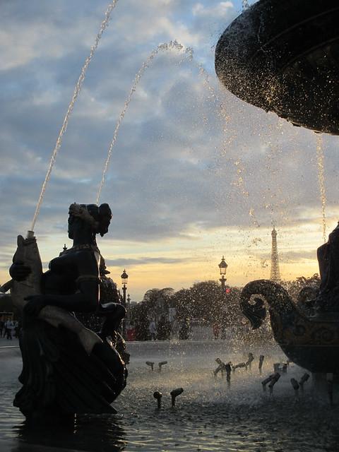 northside fountain of the Place de la Concorde