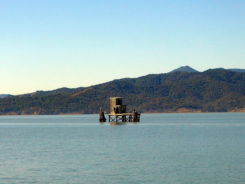 Pumphouse in San Pablo Bay