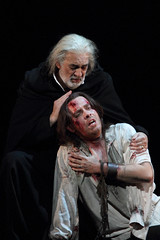 Plácido Domingo and Francesco Meli in I due Foscari © ROH/Catherine Ashmore, 2014
