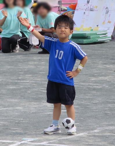 運動会、がんばる、とらちゃん 2014/10