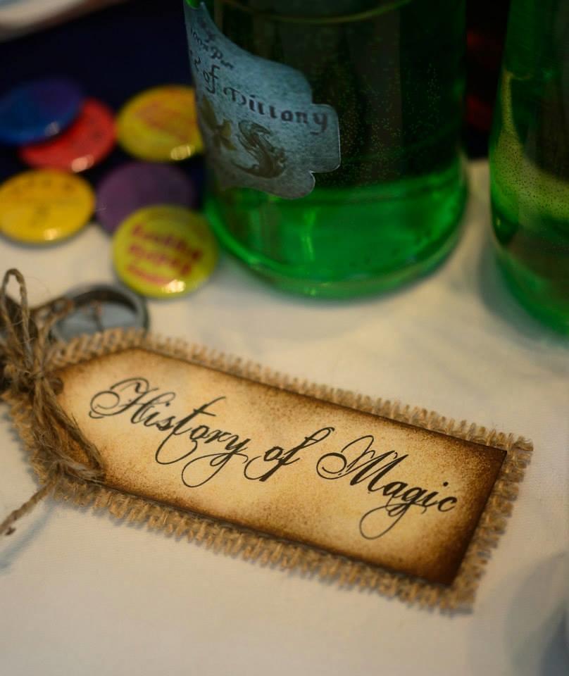 Hogwarts classroom keys at this Scottish Harry Potter wedding on @offbeatbride