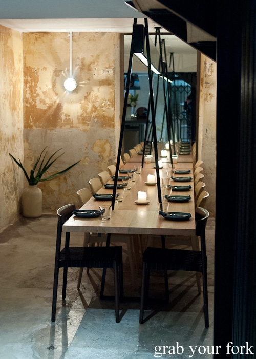 Private dining room at ACME, Rushcutters Bay