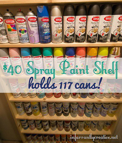 paint shelf i knew this would solve the paint problem. Black Bedroom Furniture Sets. Home Design Ideas