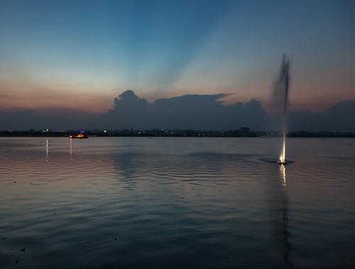 sunset india landscape hyderabad tankbund 24105mm telangana budhastatue 5dmarkiii
