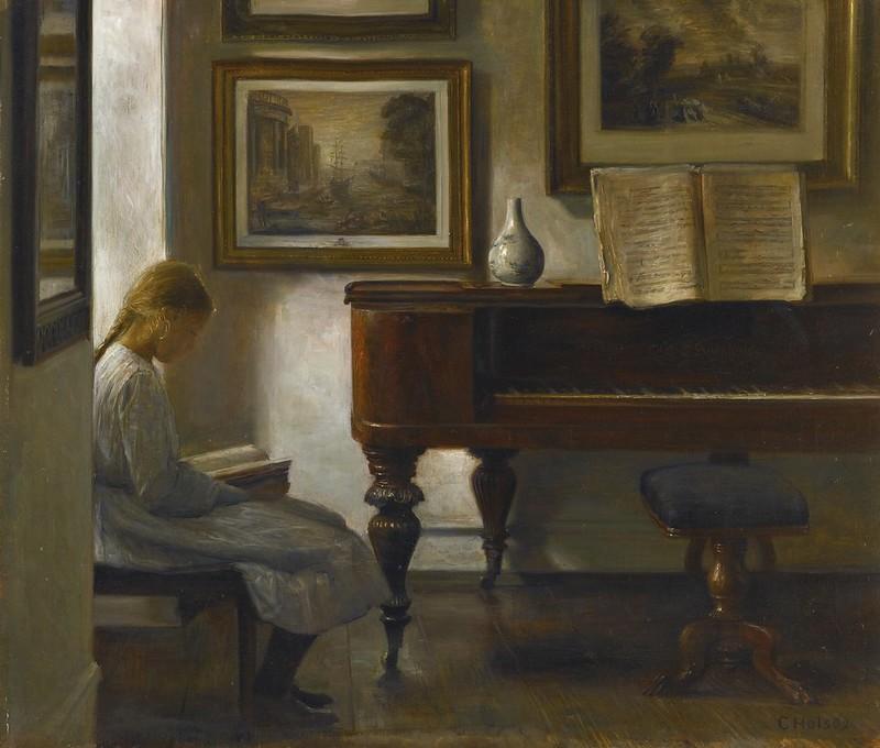 Carl Holsöe - Girl in an Interior