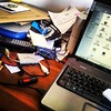 Cuando el desorden se hacen con mi escritorio...
