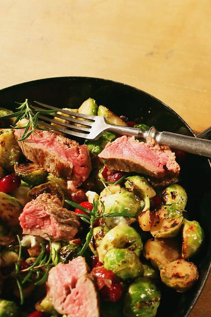 kohlsprossen mit steak oder steak mit kohlsprossen?
