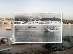 Panxón visto desde el puerto 2014 vs 1950