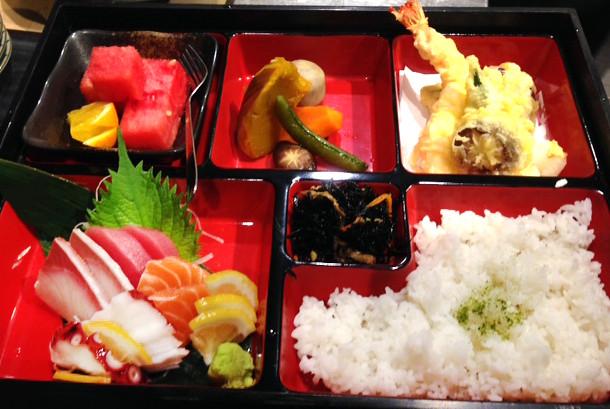 robata monkey sashimi bento
