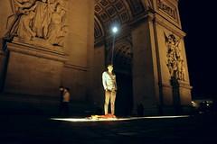 Posing with the Arc De Triomphe #arc #triomphe #paris #france #travel #night #pose