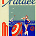 guidoligorio posted a photo:	ca. 1930-1940 --- Hotel Palace, Mar del Plata Luggage Label --- Image by © Blue Lantern Studio/Corbis