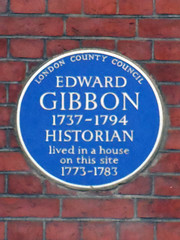 Photo of Edward Gibbon blue plaque