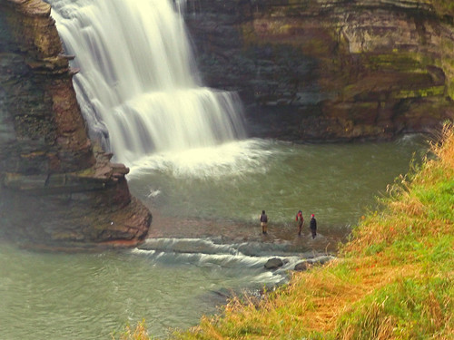 waterfall fishermen pillar lowerfalls rochesterny