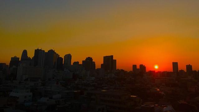Sunset Shinjuku 新宿の夕焼け