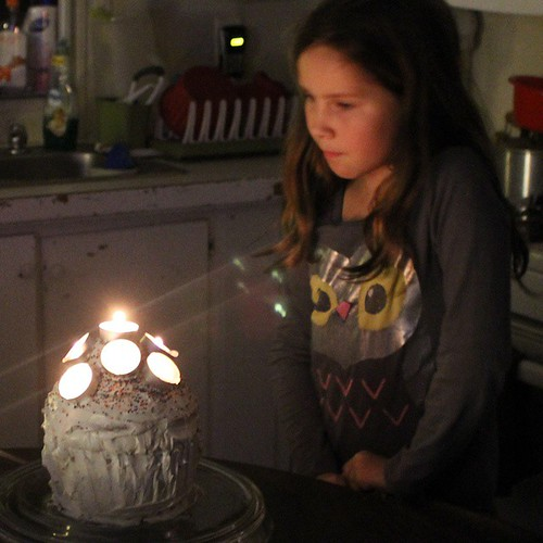 Tea light candles: what you use on your child's 10th birthday cake when you can't find regular cake candles.