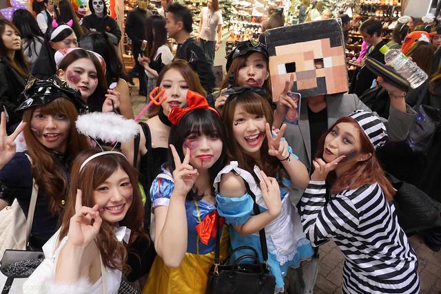 Halloween in Shibuya 2014