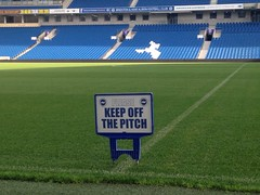 Keep Off The Pitch, Amex Stadium.