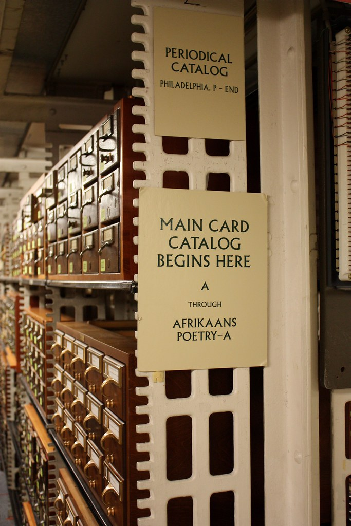 Library of Congress Main Card Catalog