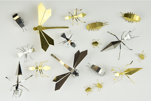 Foldable insect sculptures - Kickstarter project, Poligon